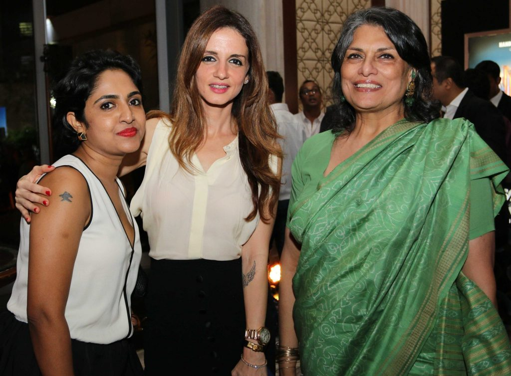 Manju Sara Rajan, Editor, Architectural Digest India, Sussanne Roshan & Sunita Kohli at Architectural Digest India's 2nd Anniversary celebrations