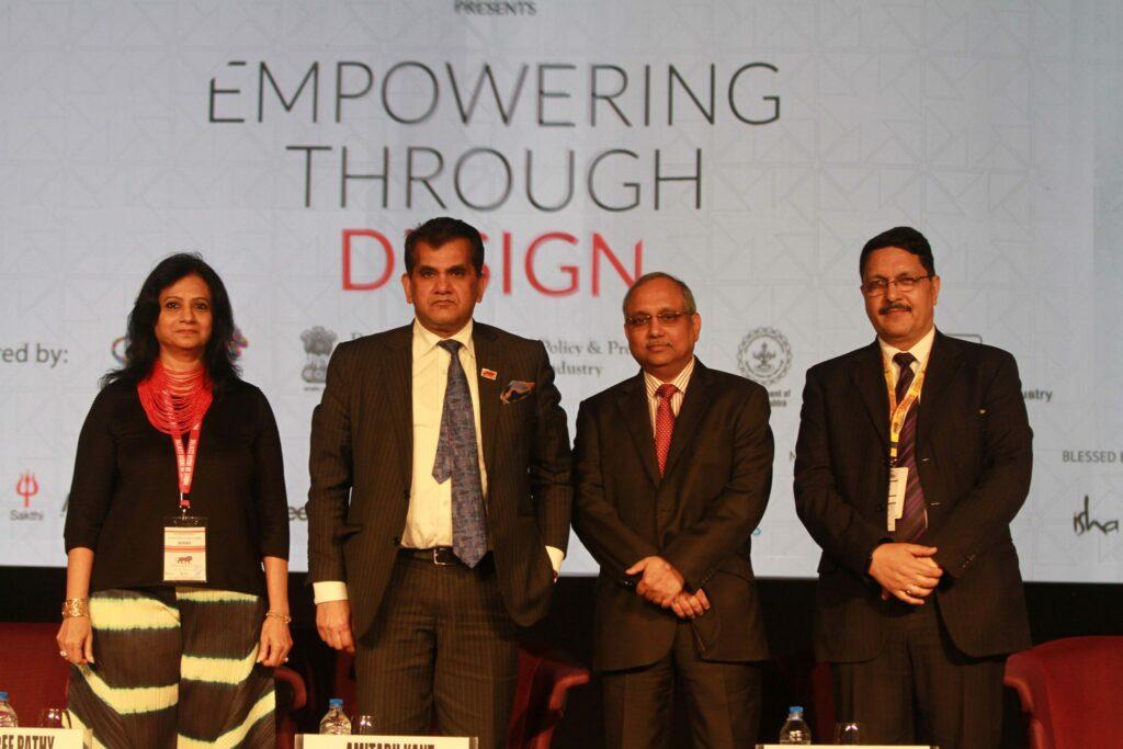 Ms. Rajshree Pathy, Dr Amitabh Kant, Chandrajit Banerjee and Dr. Pradyumna Vyas