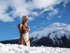 Damien Hirst's First-Ever Exhibition In St. Moritz, Switzerland Features A Grand Sculpture Atop A Frozen Lake