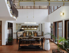 Brick, Terracotta, And Wicker Form The Round Corner House In Kottayam, Kerala